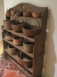 basket case, vintage baskets, vintag basket, collect