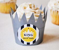DIY Tutorial: King of Duct Tape Cupcake Wrappers for Father's Day