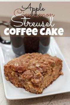 Apple Cinnamon Streusel Coffee Cake http://www.orwhateveryoudo.com/2013/08/apple-cinnamon-streusel-coffee-cake.html?utm_campaign=coschedule&utm_source=pinterest&utm_medium=Nicole%20at%20OrWhateverYouDo%20(Best%20Comfort%20Foods)&utm_content=Apple%20Cinnamon%20Streusel%20Coffee%20Cake