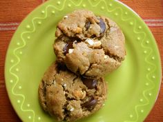 20-Minute Flourless Peanut Butter Chocolate Chip Cookies