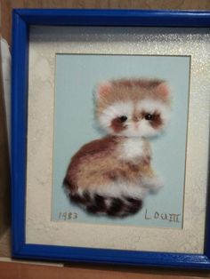 Cat Framed Picture by BlanchesNook on Etsy, $36.00