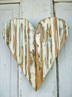 Reclaimed Wood Green Heart by woodenaht on Etsy, via Etsy.
