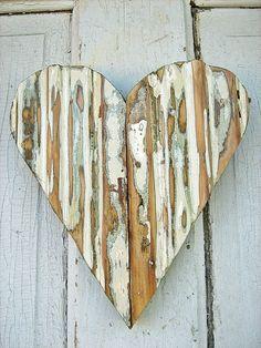 Reclaimed Wood Green Heart by woodenaht on Etsy, via Etsy.