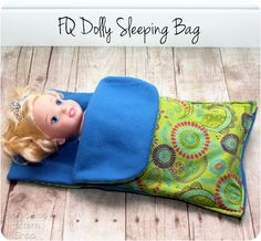 FQ Doll Sleeping Bag Tutorial - Peek-a-Boo Pattern Shop: The Blog; need to size up for an American Girl doll