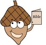 "Acorn Lesson (Genesis 1:29) Comes with acorn snack, coloring page, activity page, acorn ""Nutty buddies"" craft, and more."