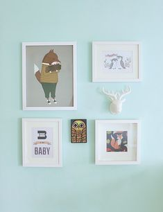 Gallery wall in nursery.