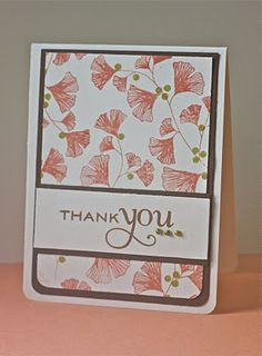 Simple.  Use patterned paper instead of stamping background