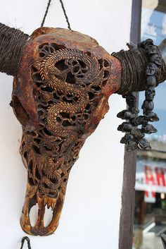 Carved Skull with antlers. =)