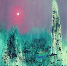 "Alexey Adonin; Oil Painting, ""Fog"""
