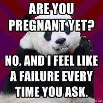 Are you pregnant yet? No. And I feel like a failure every time you ask.