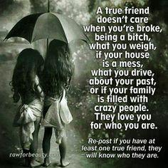 To true friendship