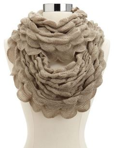 Ruffled Knit Infinity Scarf: Charlotte Russe