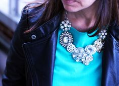 Bromeliad: My DIY J. Crew crystal flower lattice necklace - Fashion and home decor DIY and inspiration