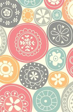 """♥ ♥ ♥ this-- the colors, the pattern, EVERYTHING!!! ... """"Candy Circles"""" Art Print by Shiny Orange Dreams"""