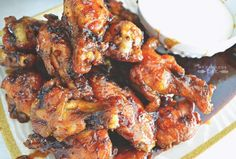 Sticky Maple Teryaki Wings perfect for the Superbowl #superbowl #wings