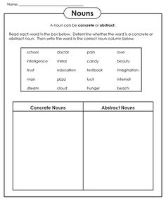 Check out our new abstract noun worksheets!