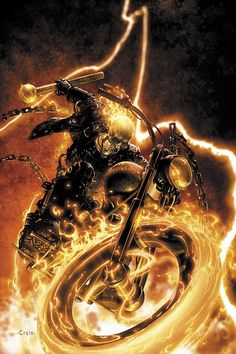 Ghost Rider by Clayton Crain.