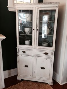 Repurposed Gems: White Corner Hutch - $350