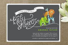 Baby Animal Parade Baby Shower Invitation