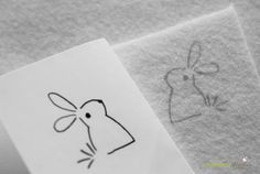 Transferring designs onto felt #embroidery #felt #transfer
