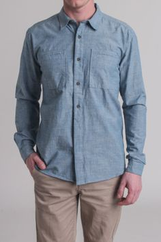 every man needs a chambray shirt