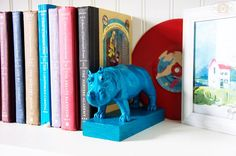 DIY animal bookend