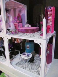 OOAK Happy Family Barbie House by BargainFancy (Michele Primel Tunstall)