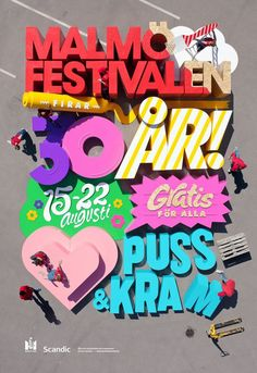 Creative Review - Snask creates giant poster for Malmö Festival
