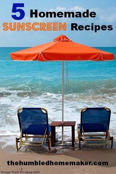 5 Homemade Sunscreen Recipes - The Humbled Homemaker