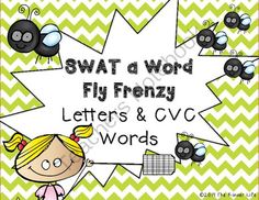 SWAT a Word: Fly Frenzy- Letters and CVC Words from TheKinderLife on TeachersNotebook.com -  (25 pages)  - There are 4 ways to �SWAT� words/letters in this packet!