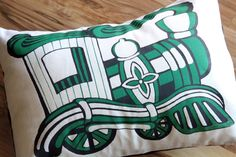 Train Pillow Cover  12X16 by ToddAh on Etsy, $35.00