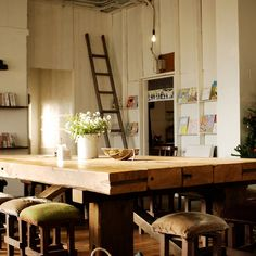 Like the stools, table