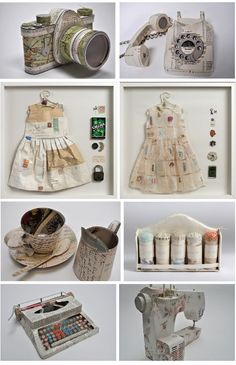 paper art  ~K~ I personally love the dresses