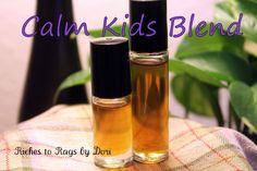 Can't wait to try this! Calm Kids Essential Oil Blend  85 drops of Vetiver 30 drops of Ylang Ylang 20 drops of Frankincense 15 drops of Clary Sage 10 drops of Marjoram 30 drops of Lavender 35 drops of Fractionated Coconut Oil