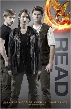 reading posters   bookshelves of doom: Hunger Games READ poster.