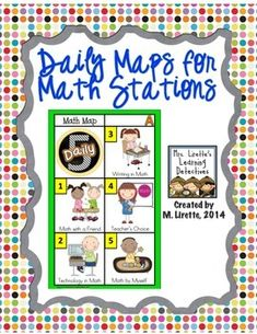 Daily Maps for Math Stations- perfect for Daily 5 Math!