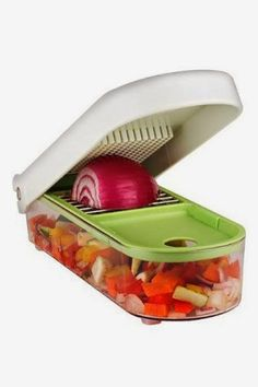 I cook A LOT, and I hate cutting onions, and dicing tomatoes can be so messy, but this keeps everything together nice and neat and does all the work for you. You can make guacamole in about four minutes (this includes cutting and scooping the avocados)! Click to get one or read the reviews!