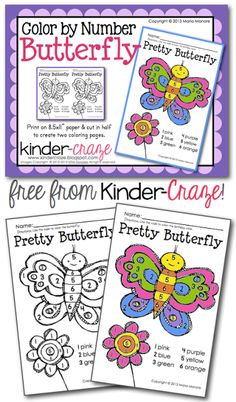 FREE Color by Number Butterfly