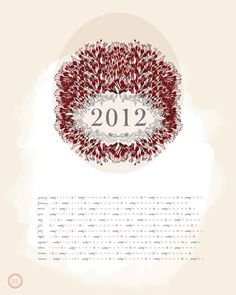 Ash & Anchor 2012 Calendar