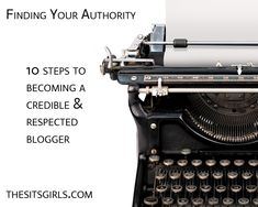 finding your authority as a blogger