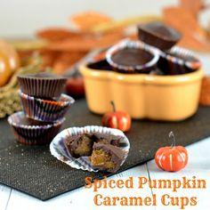 Spiced Pumpkin Caramel Cups