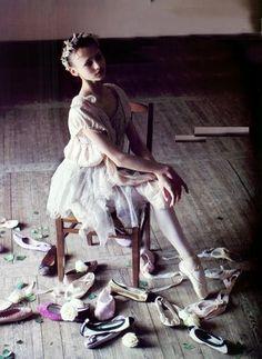 Christina Shapran in Rossella Tarabini. Anna Molinari dress + Alberta Ferretti bolero, photographed by Arthur Elgort for Vanity Fair, 2006. #art #photography #ballet #ballerina #dance #VanityFair