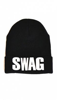 Black Swag Beanie Hat | OMG Fashion http://www.omgfashion.com/shop/black-swag-beanie-hat