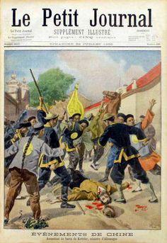 Murder of the German ambassador, Baron von Ketteler, on June 20, 1900. 1900