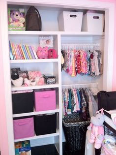 Nicolette.... this is a great idea for the nursery closet organization since the room is small