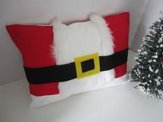 almost no sew Santa suit pillow