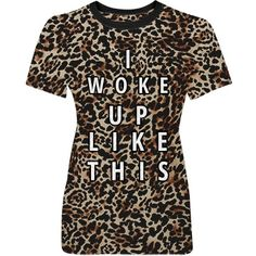 I Woke Up Cheetah Misses Fit District Made Perfect Weight Pattern Tee