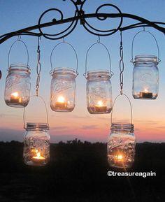 engag parti, canning jars, lantern hanger, dream, candle holders, jar lantern, jar candles, mason jars, mason jar party