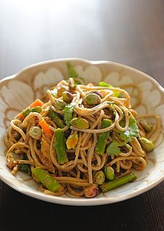 Asparagus with Buckwheat Noodles