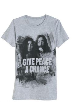 JOHN LENNON YOKO ONO SHIRT XS S new hippy the beatles retro rock boho chic peace